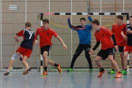 Spiel der männlichen B-Jugend (in rot).