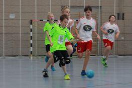 Spiel der männlichen C-Jugend (in grün).