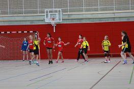 Spiel der weiblichen D-Jugend (in rot).