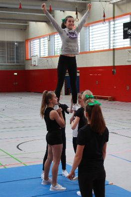 Training der Flying Vampires.