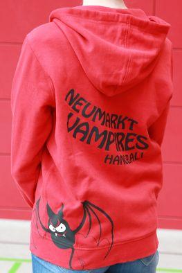 Handball Sweatshirtjacke Rückenansicht